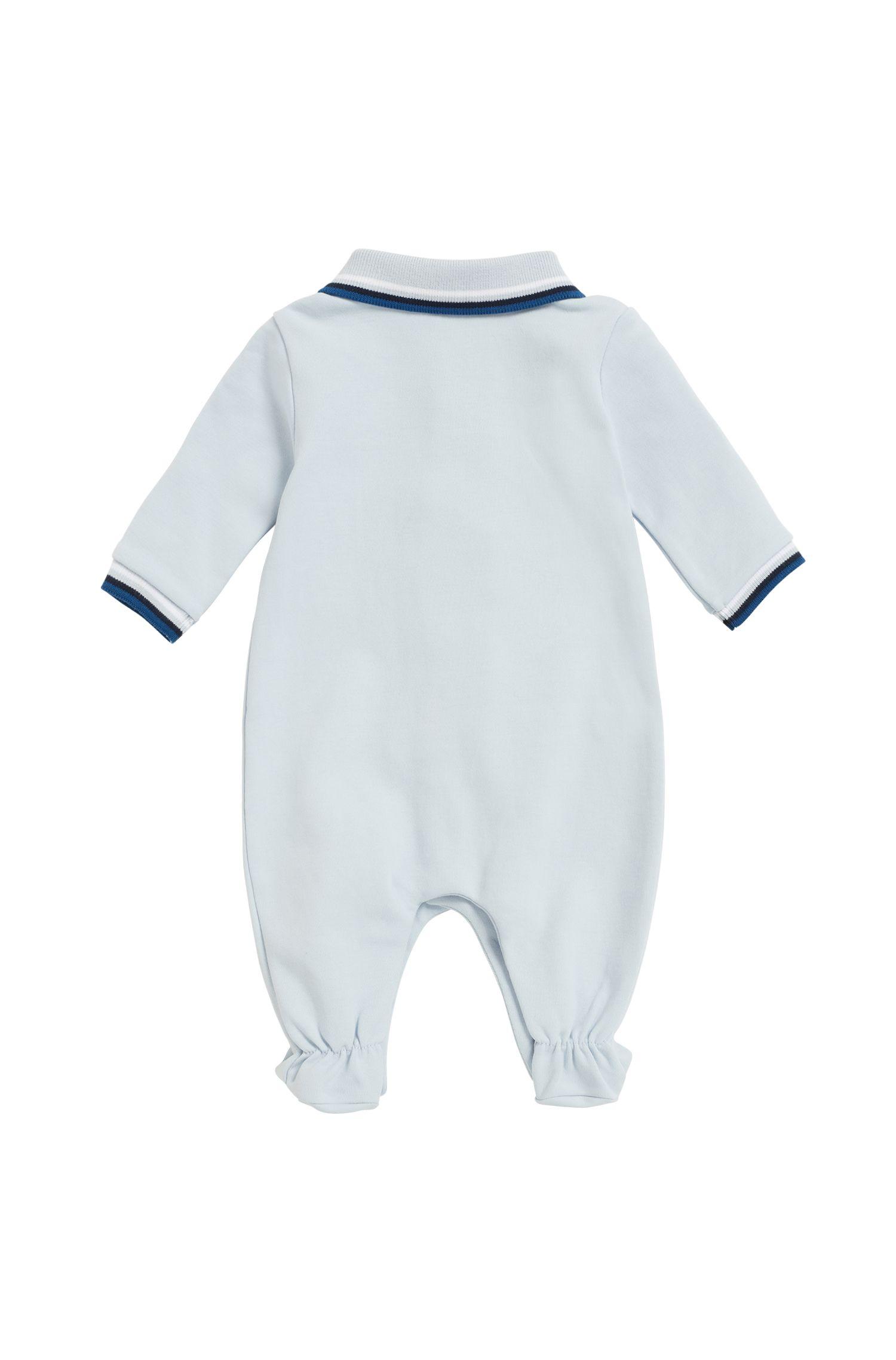 Babyslaappakje van interlocked katoen, Lichtblauw