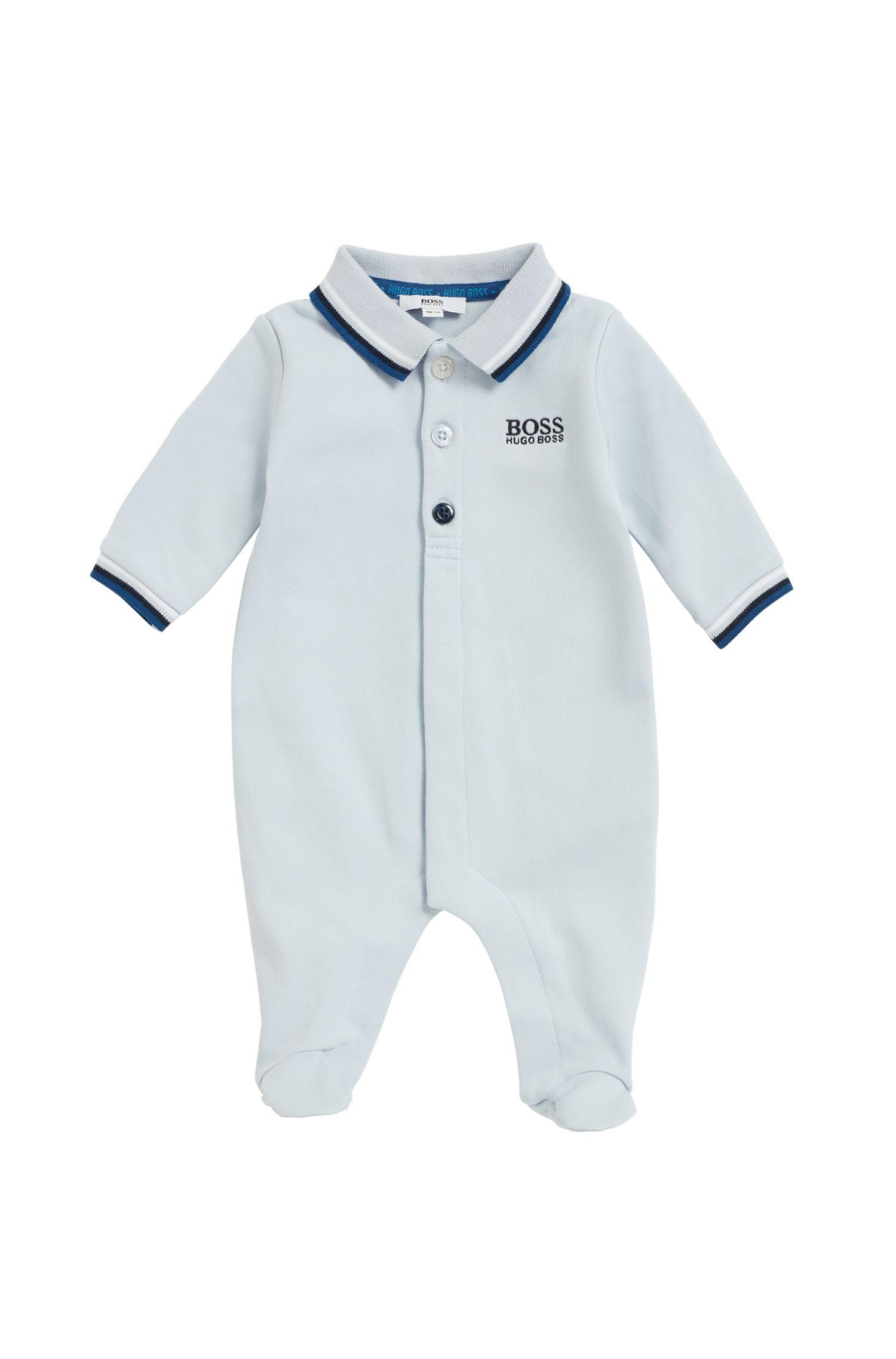Baby sleepsuit in interlock cotton