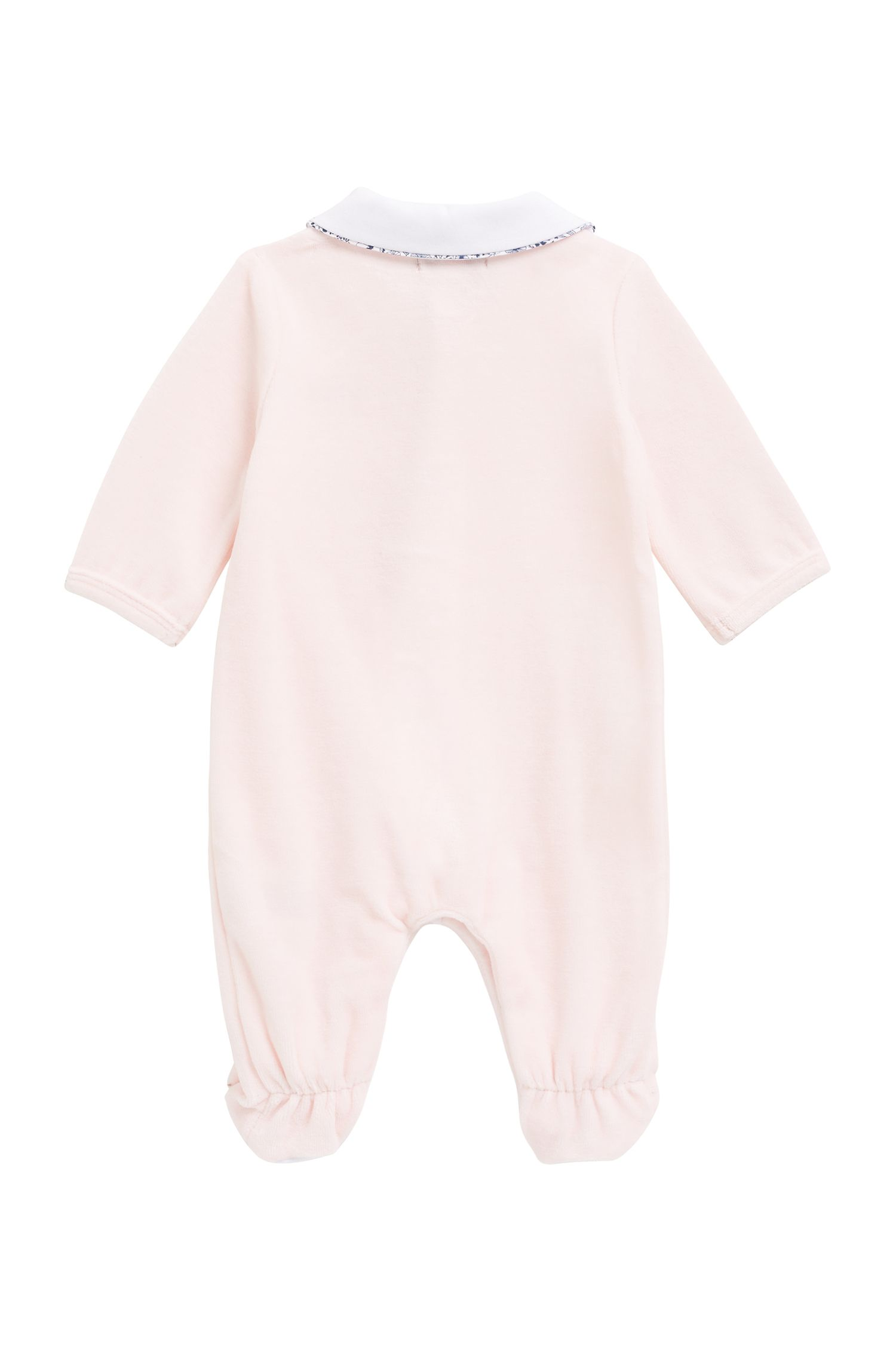 Baby-Pyjama aus Terry mit Samt-Finish, Hellrosa