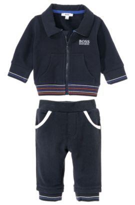 Pantalon de jogging pour enfant «J98109» en coton mélangé, Bleu foncé