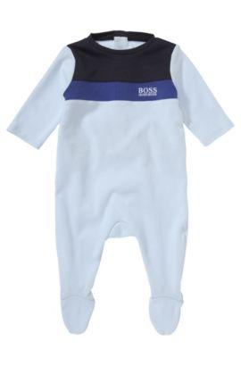 Kinderset met kruippakje en slabbetje 'J98111', Lichtblauw
