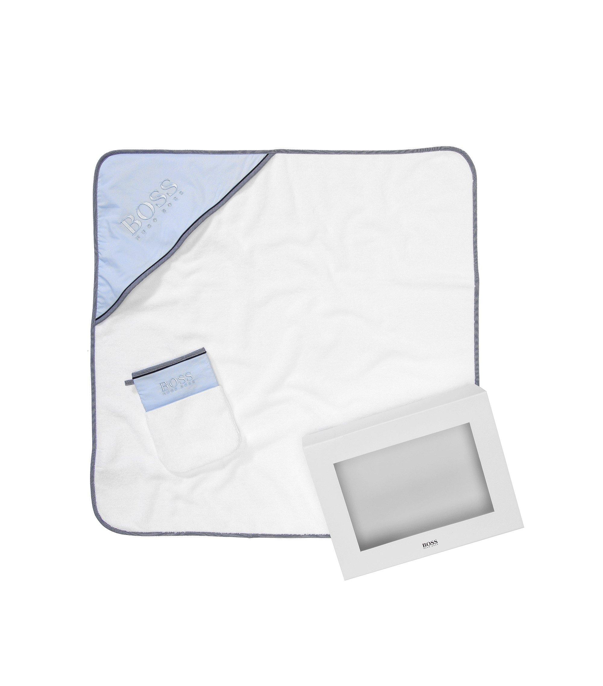 Set aus Kapuzenhandtuch und Waschlappen ´J98114`, Gemustert