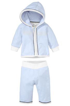 Kids-Set aus Sweatshirt-Jacke und Jogginghose ´J98122`, Hellblau