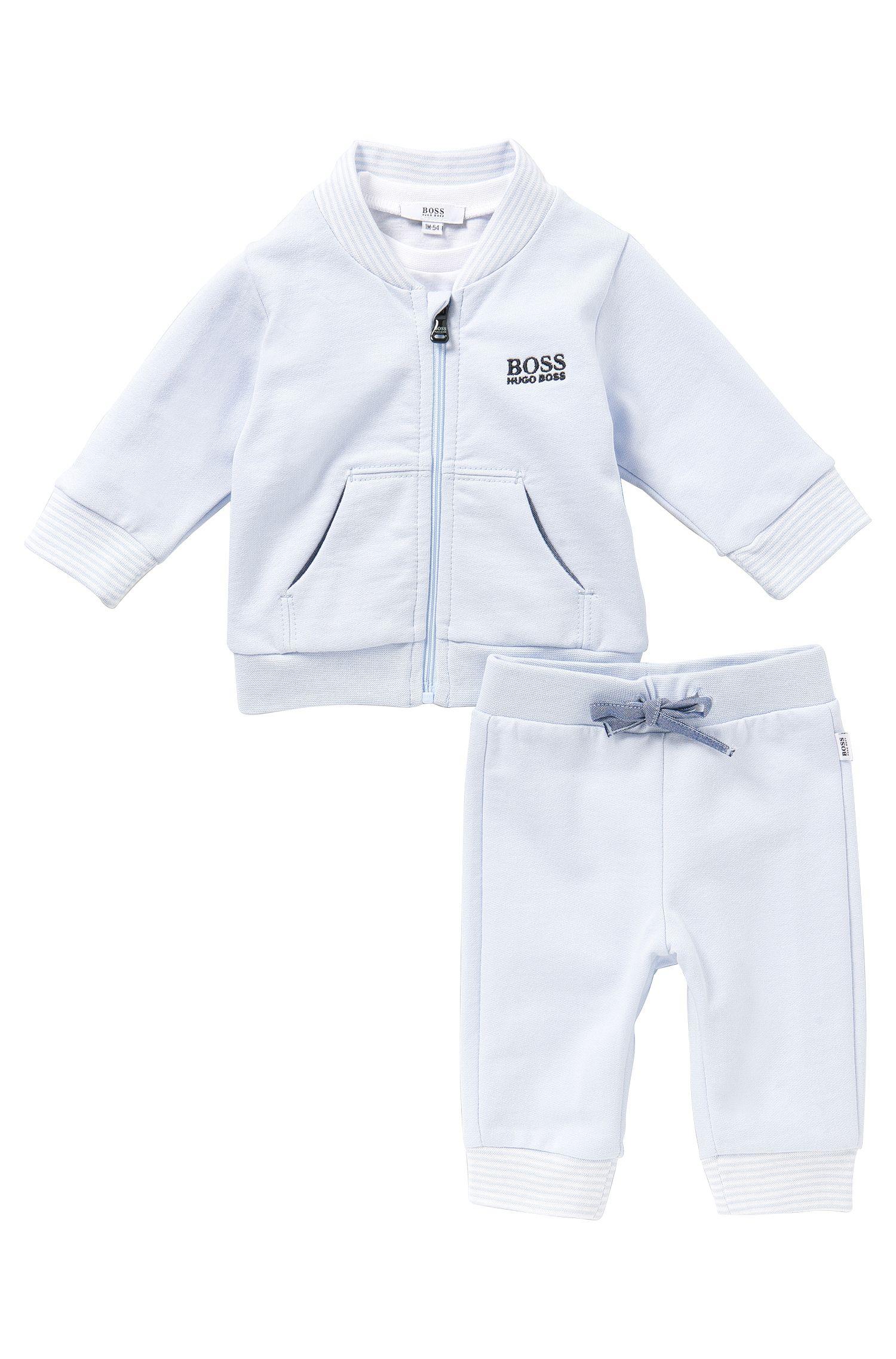 Babyset met sweatjas, broek en longsleeve: 'J98132'