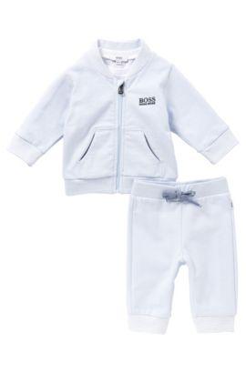 Ensemble pour bébés composé d'un blouson sweat, d'un pantalon et d'un t-shirt manches longues: «J98132», Bleu vif