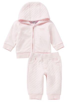 Kinderset met sweatjas en broek van katoen: 'J98134', Lichtroze