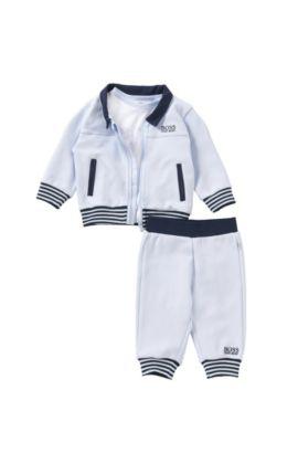Baby-Set aus Sweatshirt-Jacke, T-Shirt und Hose: 'J98149', Hellblau