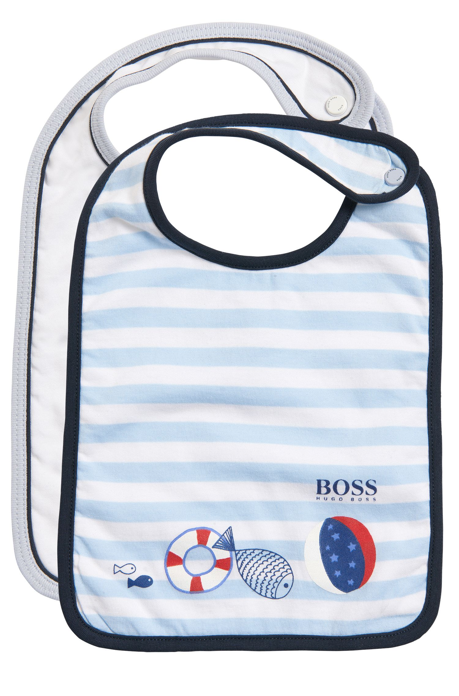 Newborns' bibs in a double pack with a matching storage bag: 'J98150'