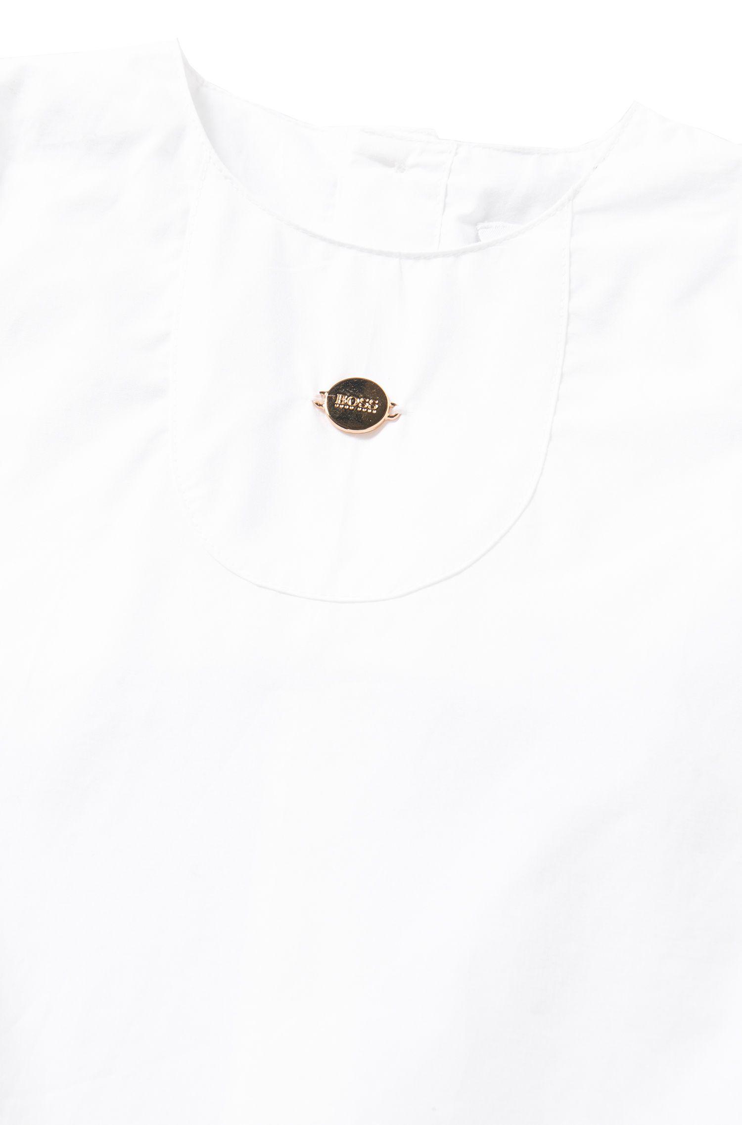 Robe pour bébé unie avec petite culotte en coton: «J98154»