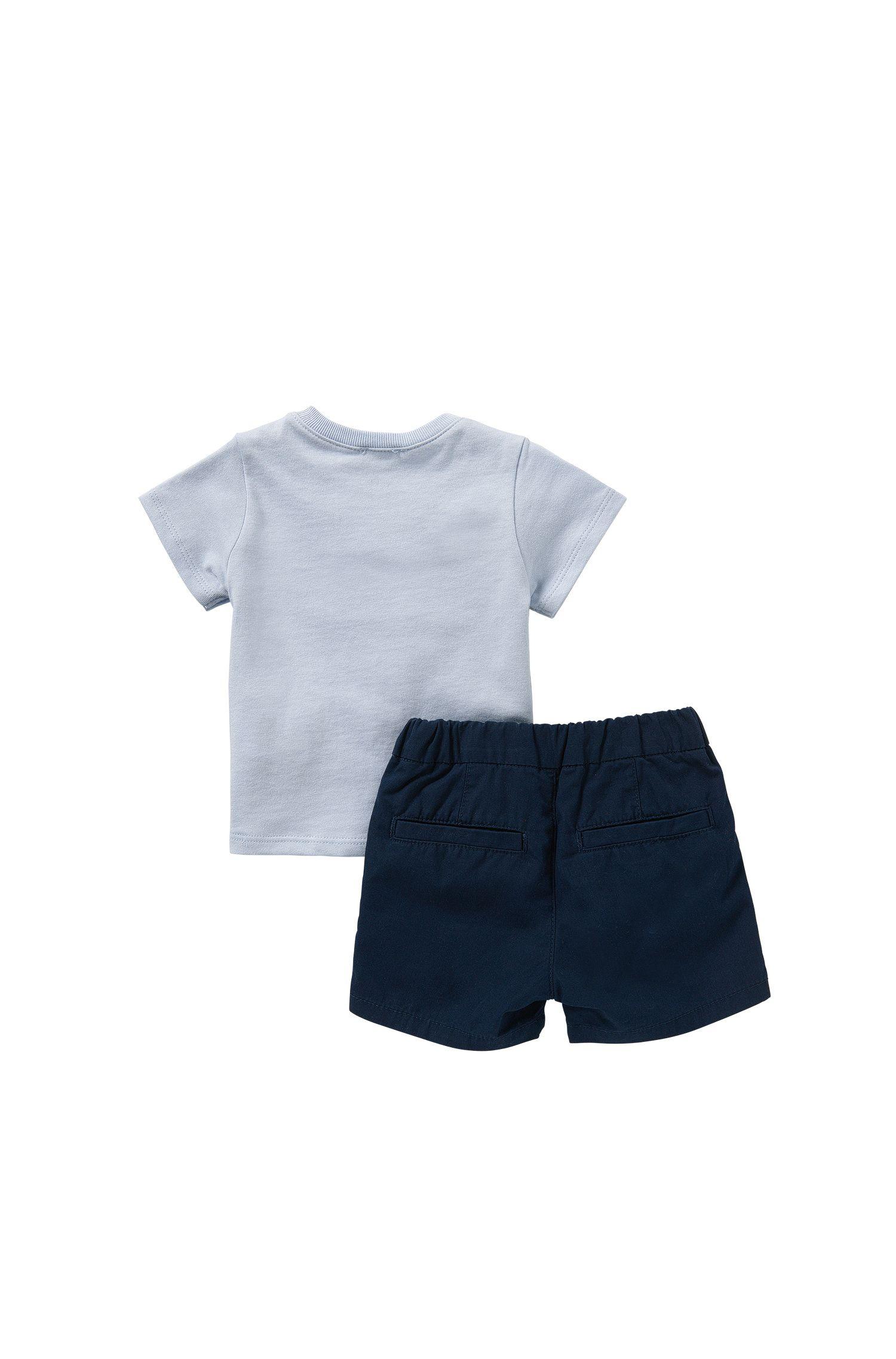 Ensemble bébé avec t-shirt et short en coton: «J98155»
