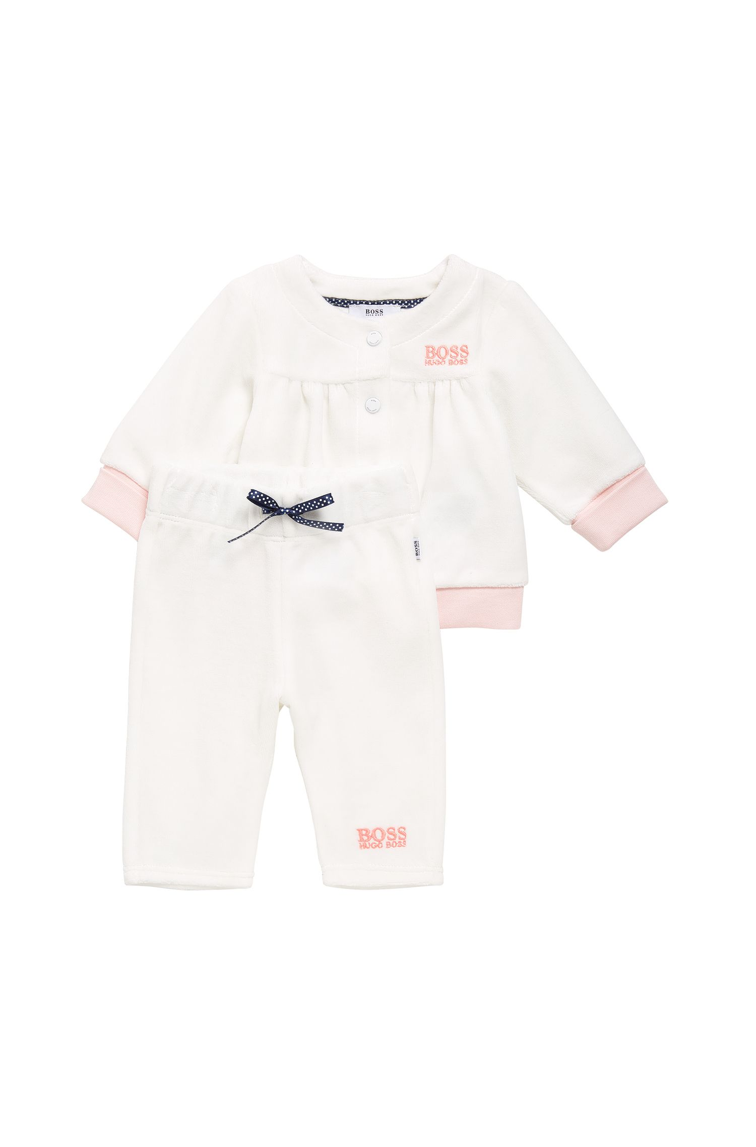 Newborn jacket and trousers in cotton blend: 'J97107'