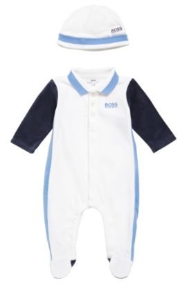 Newborn set with a bodysuit and beanie: 'J98162', White