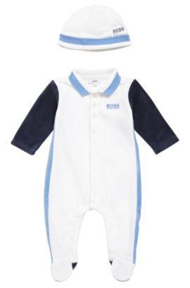 Babyset bestaande uit een kruippakje en een muts: 'J98162', Wit