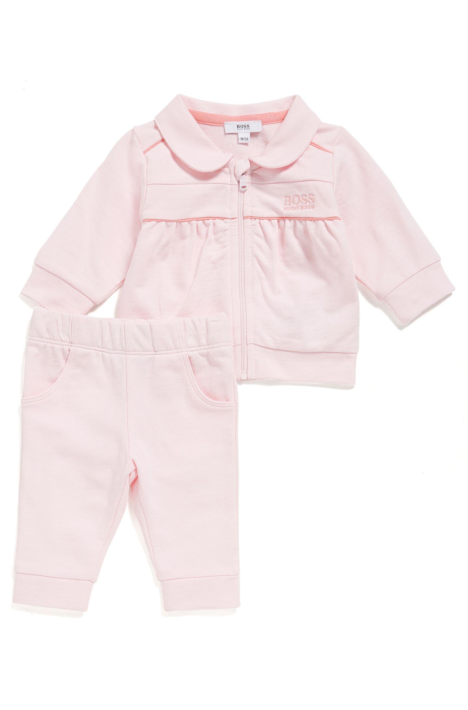Blouson et pantalon molletonnés en coton pour bébé: «J98178»