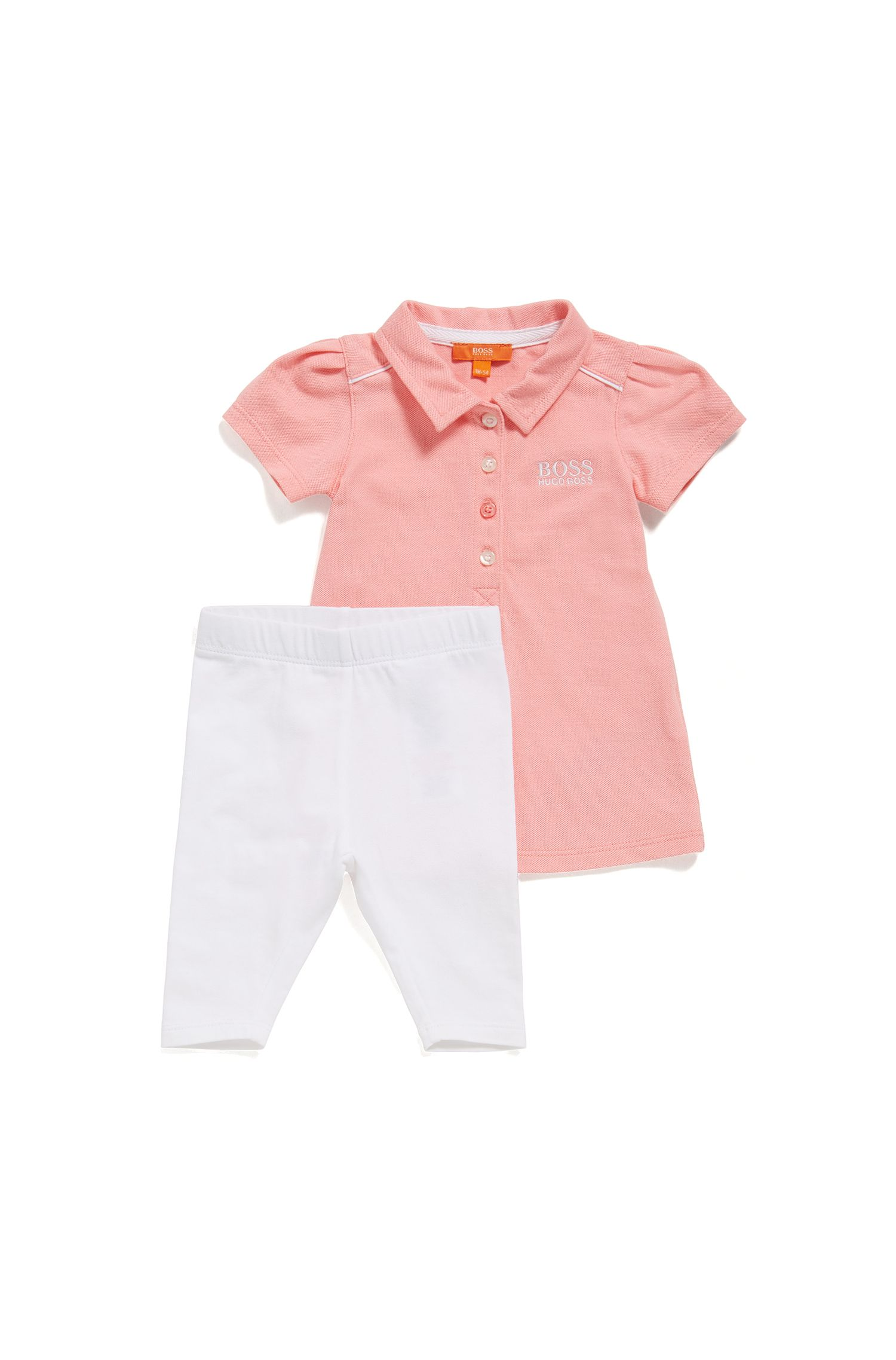 Newborn polo shirt and leggings in stretch cotton: 'J98179'