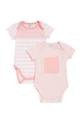 Lot de deux bodies pour bébé en jersey simple, Rose clair