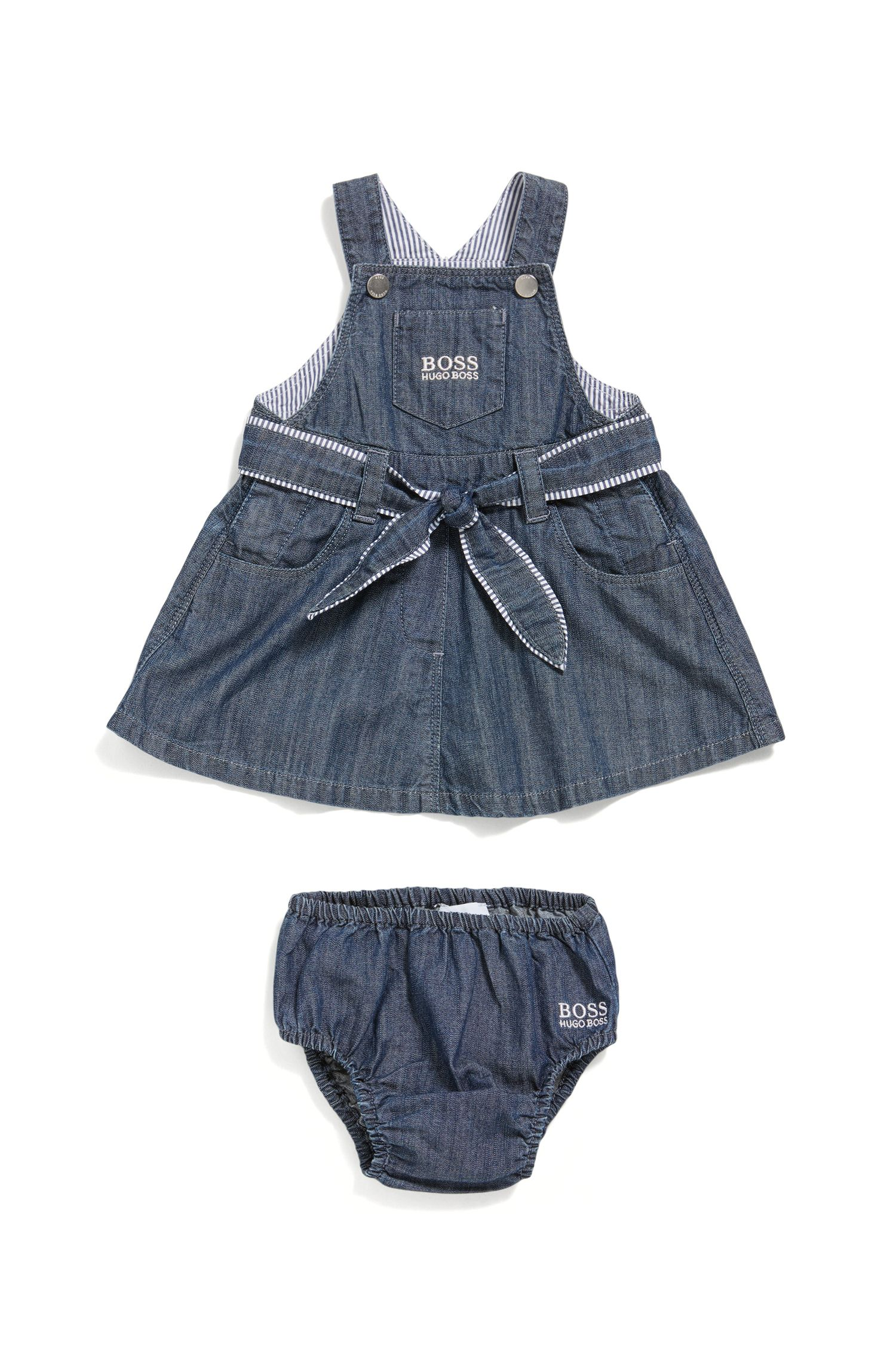 Newborn's cotton dress with knickers: 'J98185'