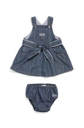 Newborn's cotton dress with knickers: 'J98185', Patterned