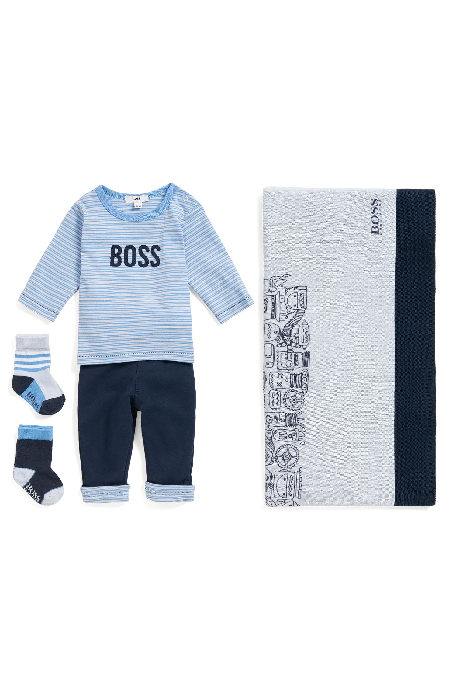 Baby T-shirt and trouser set in cotton