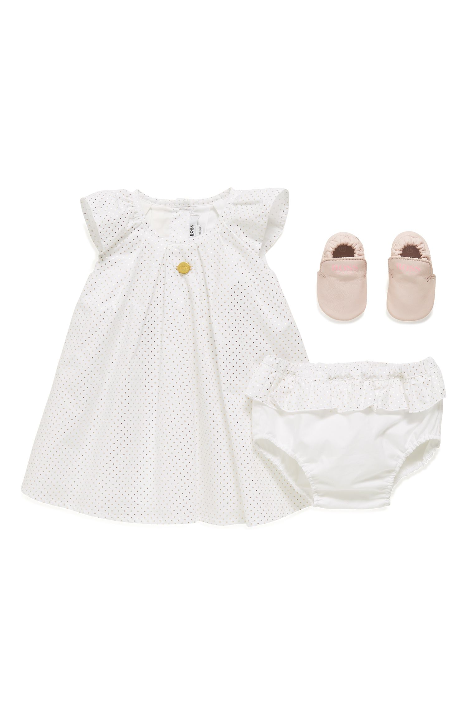Baby dress and bloomers in cotton percale
