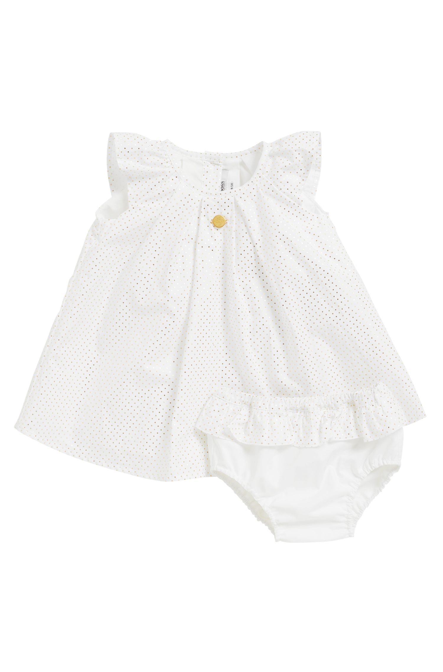 Robe et bloomer pour bébé en percale de coton