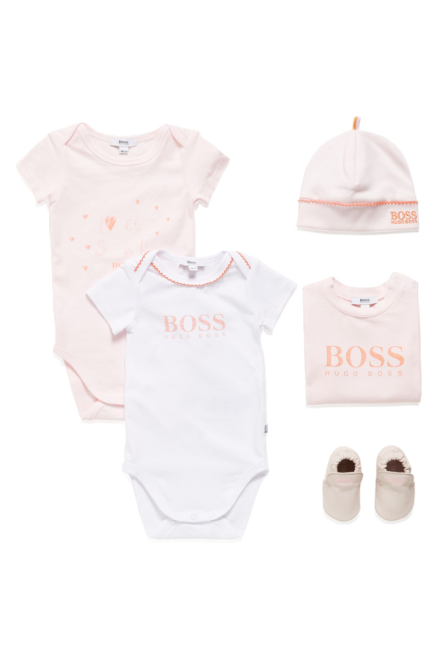 Deux bodies fille en jersey de coton stretch, Fantaisie