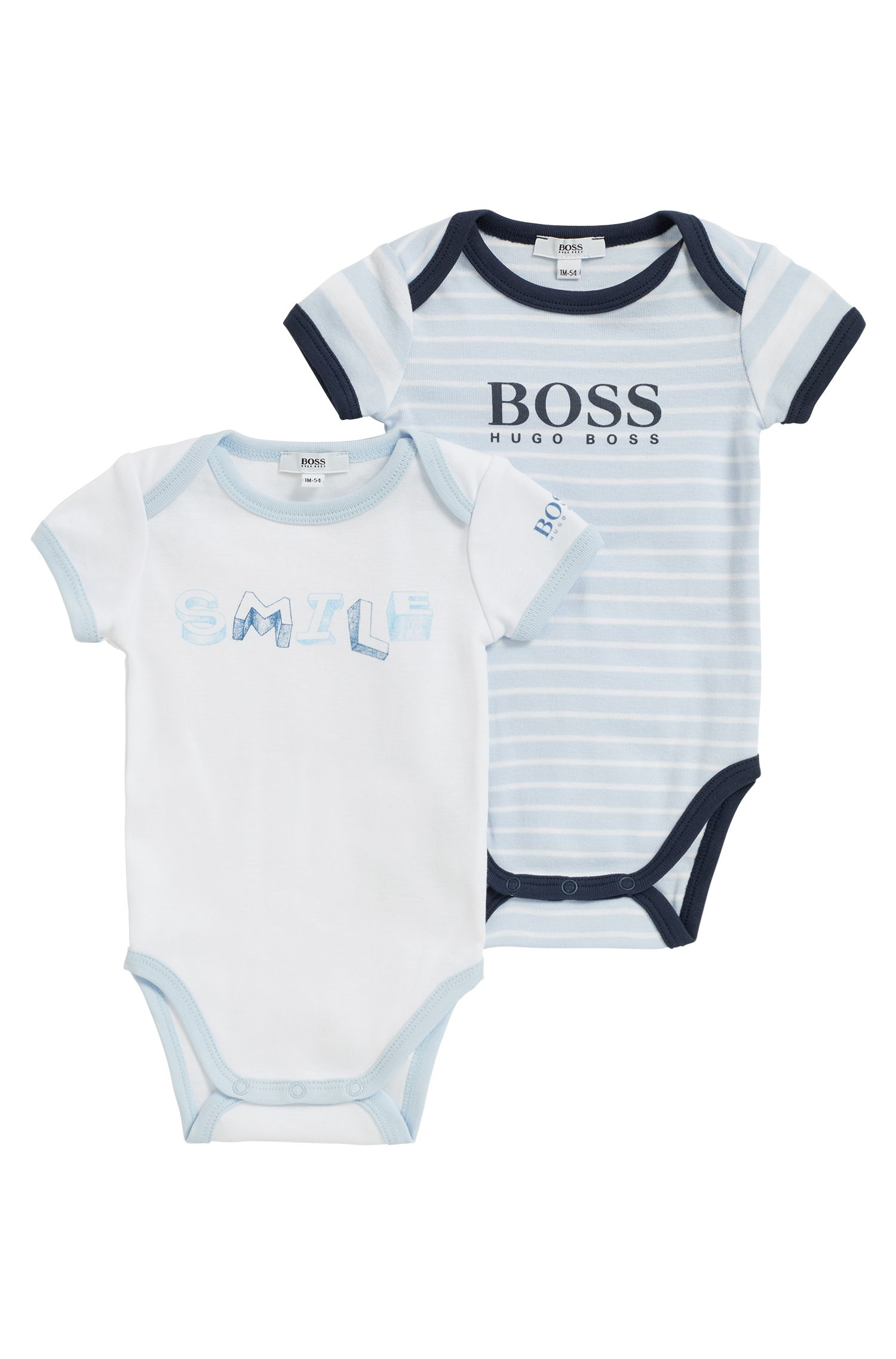 Two pack of baby bodysuits in cotton