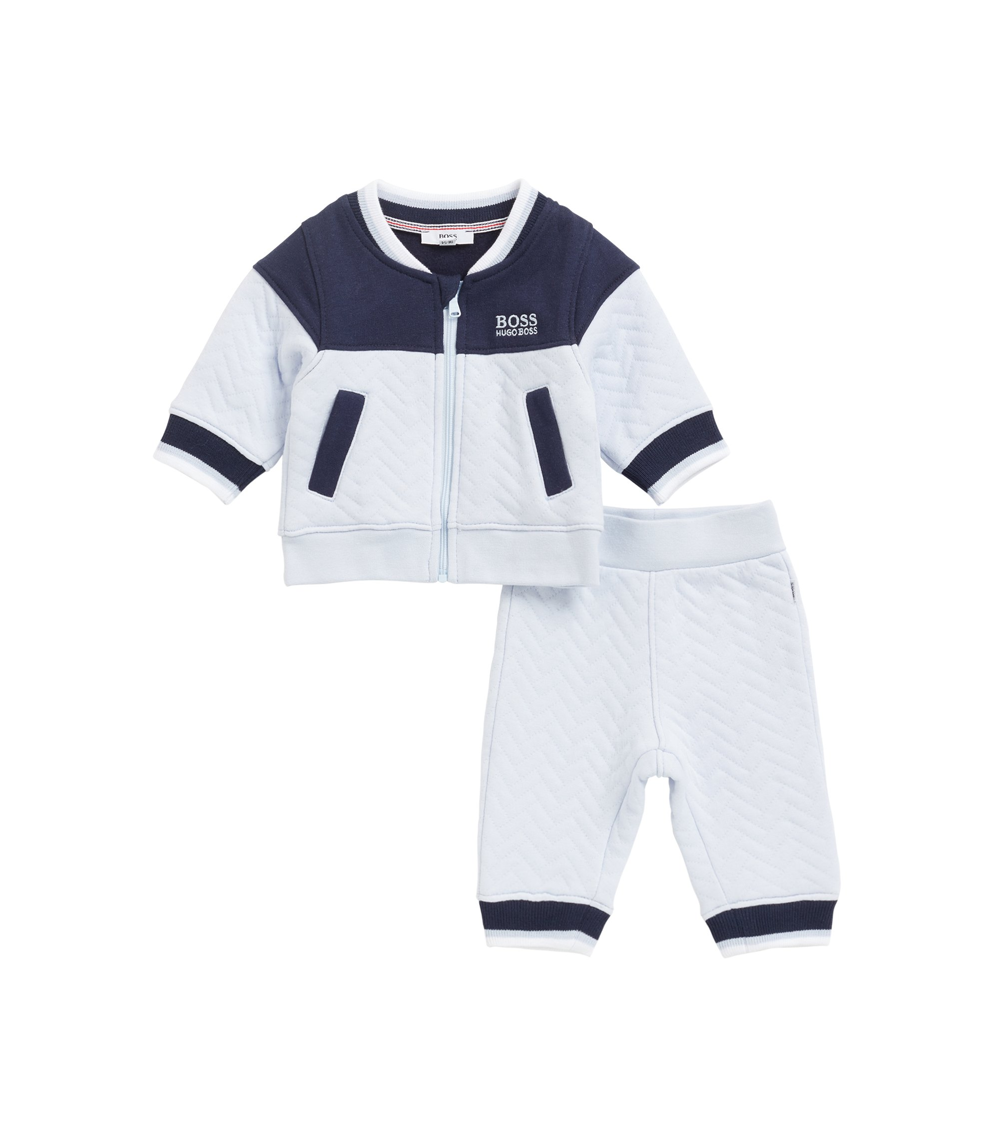 Three-piece baby loungewear tracksuit in a gift box, Patterned