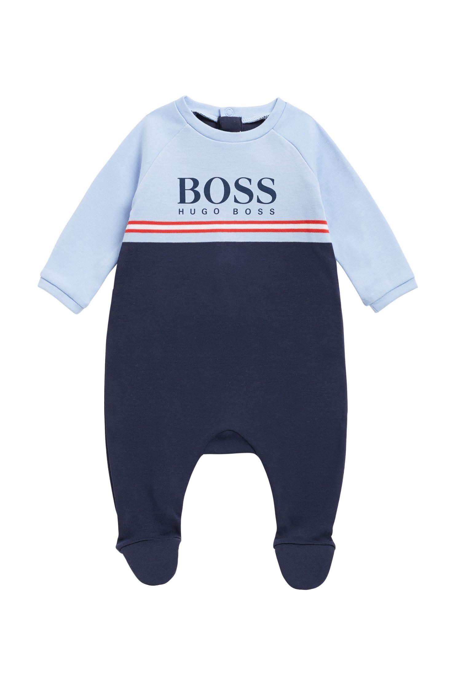Conjunto de pijama para bebé y babero en algodón interlock, Fantasía