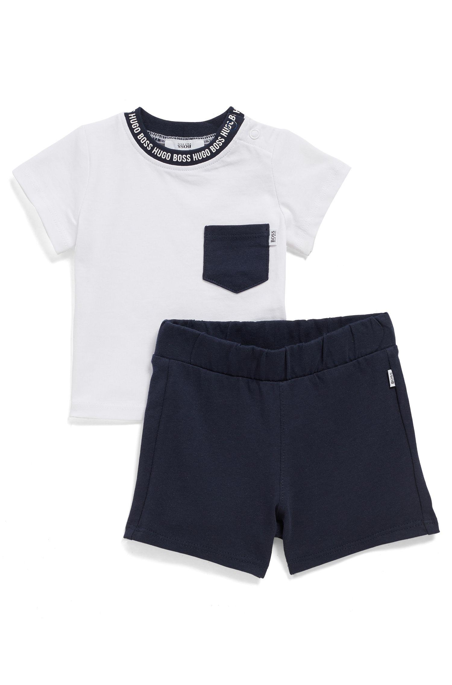 Coffret cadeau t-shirt et short en coton pour bébé, Fantaisie