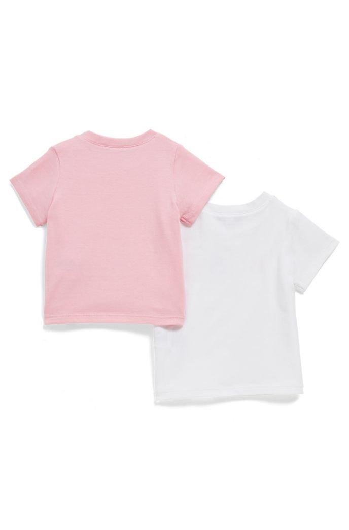 Baby two-pack printed T-shirts in stretch-cotton jersey