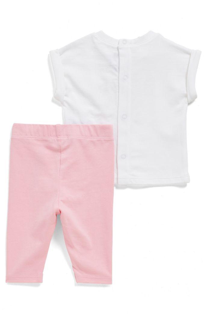 Lot t-shirt et legging pour bébé avec logo imprimé à l'encre puff