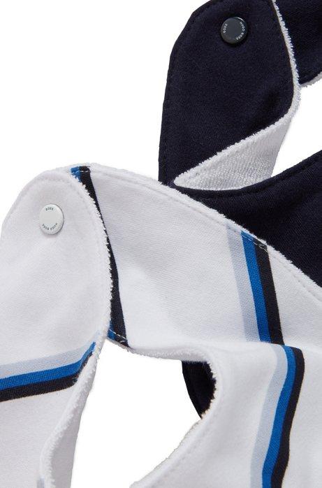 Set van twee babyslabbetjes van interlocked katoen, Donkerblauw