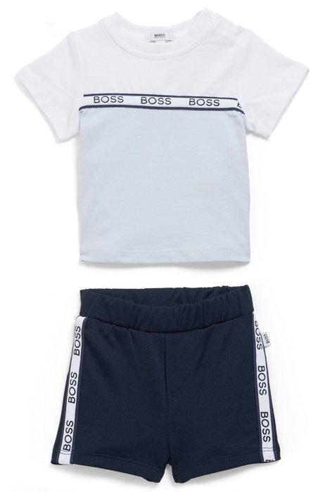 Geschenk-Set mit Baby-Shorts und T-Shirt, Gemustert