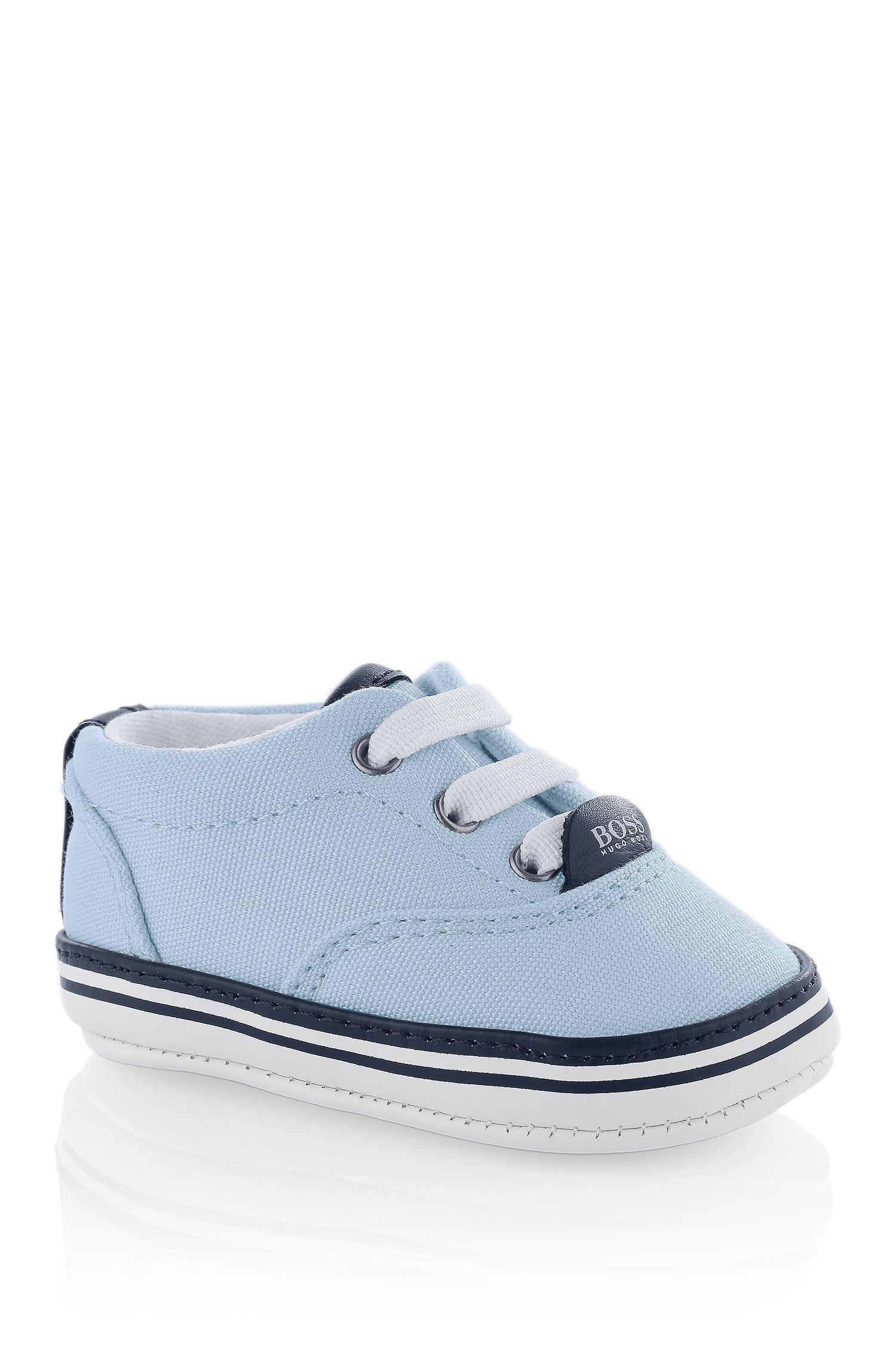 Baby-Sneaker ´J99038` aus Textil mit Leder-Details