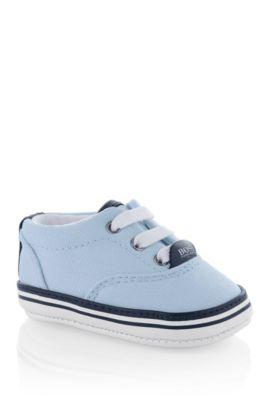 Baby-Sneaker ´J99038` aus Textil mit Leder-Details, Hellblau