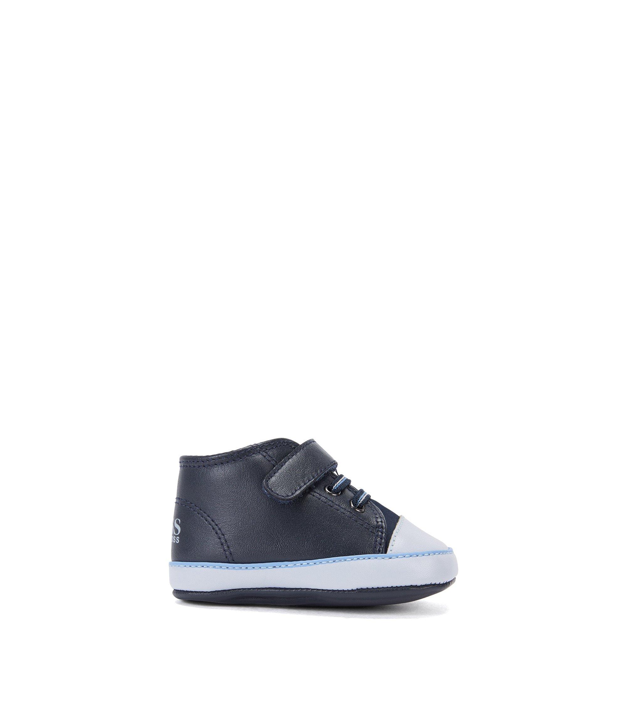 Baby-Schuhe aus Leder mit Klettverschluss: 'J99047', Dunkelblau