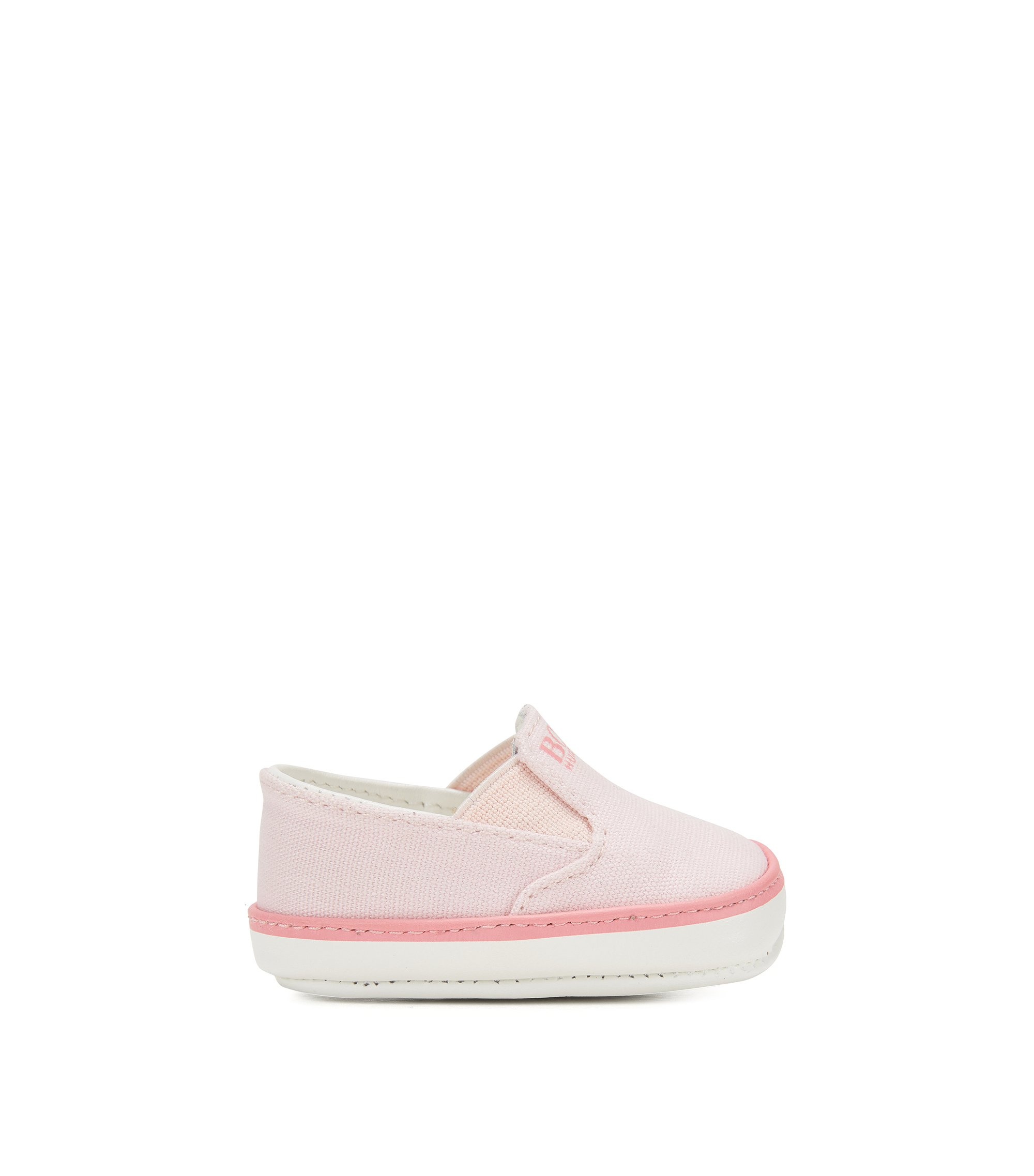 Newborn shoes with leather soles: 'J99050', light pink