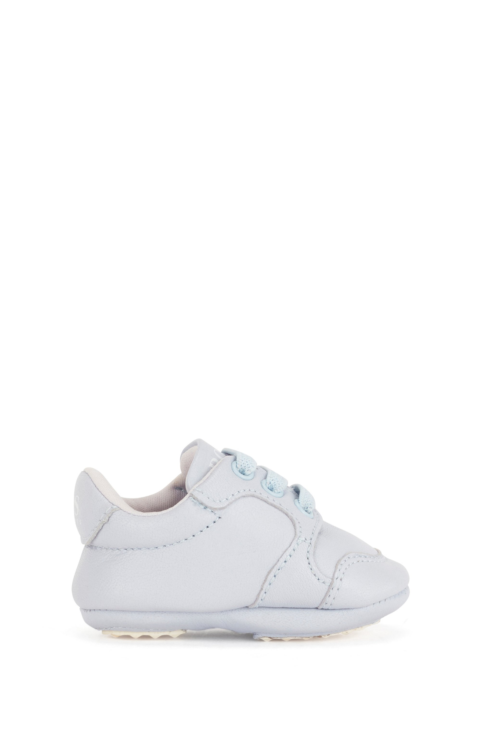 Baby trainers in soft leather with logo details