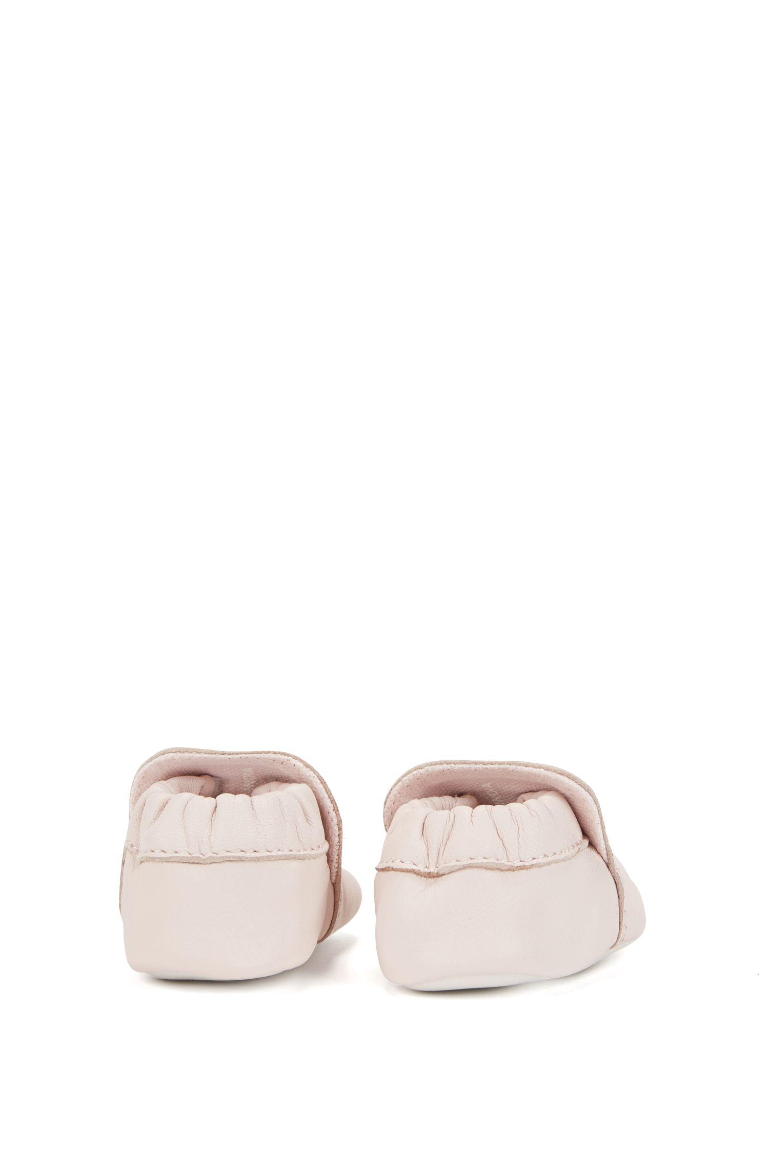 Baby-Stiefel aus weichem Leder, Hellrosa