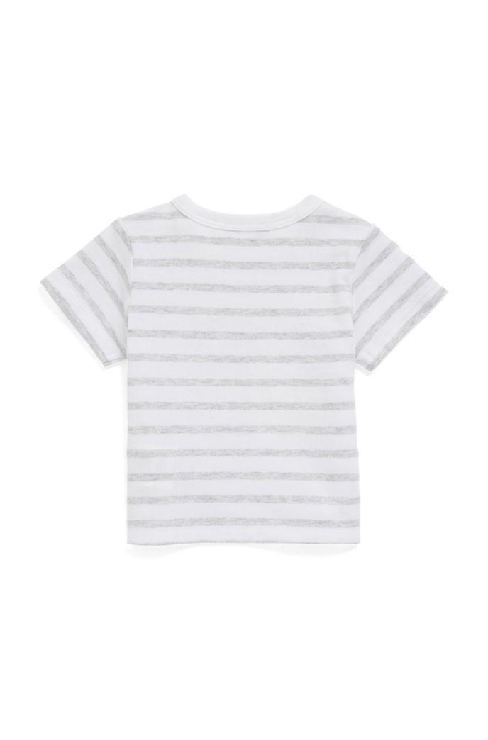 Coffret cadeau avec t-shirt en coton à rayures et short en twill pour bébé