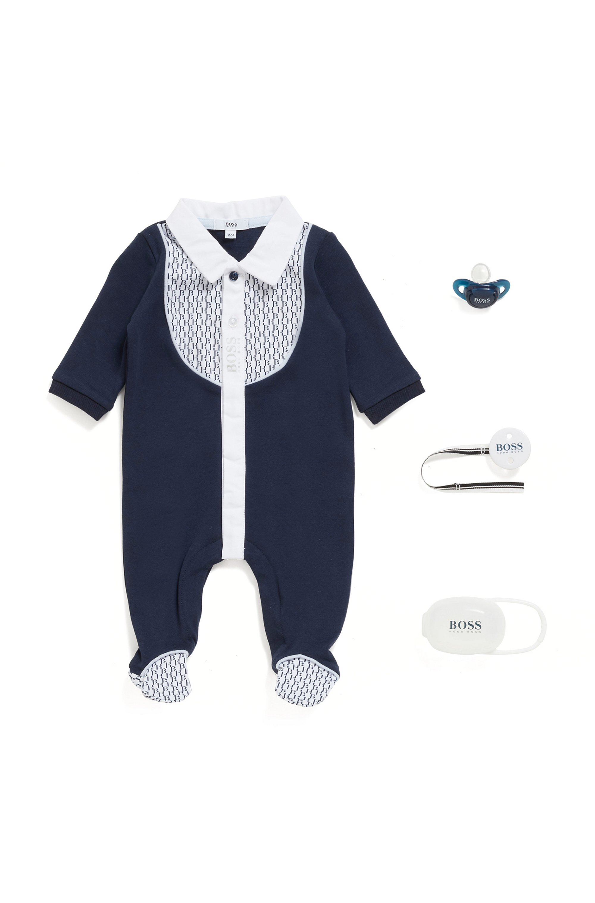 Gift-boxed baby dummy and accessory set