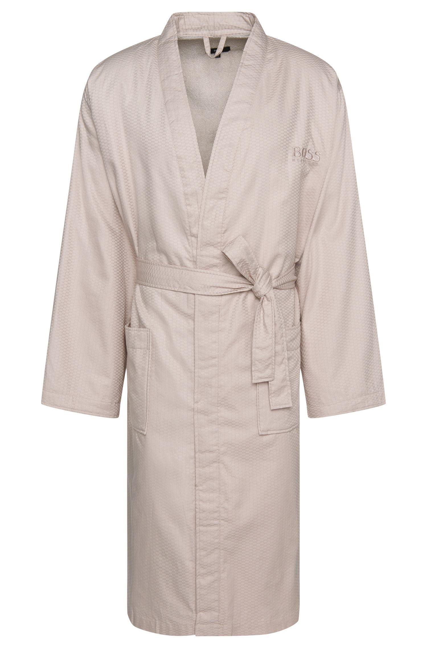 Peignoir à motif en coton fin: «Kim-Lofty-260-M»