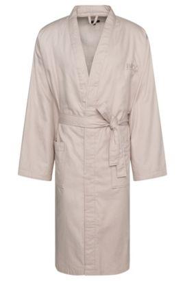 Batín de algodón con un fino estampado: 'Kim-Lofty-260-M', Beige