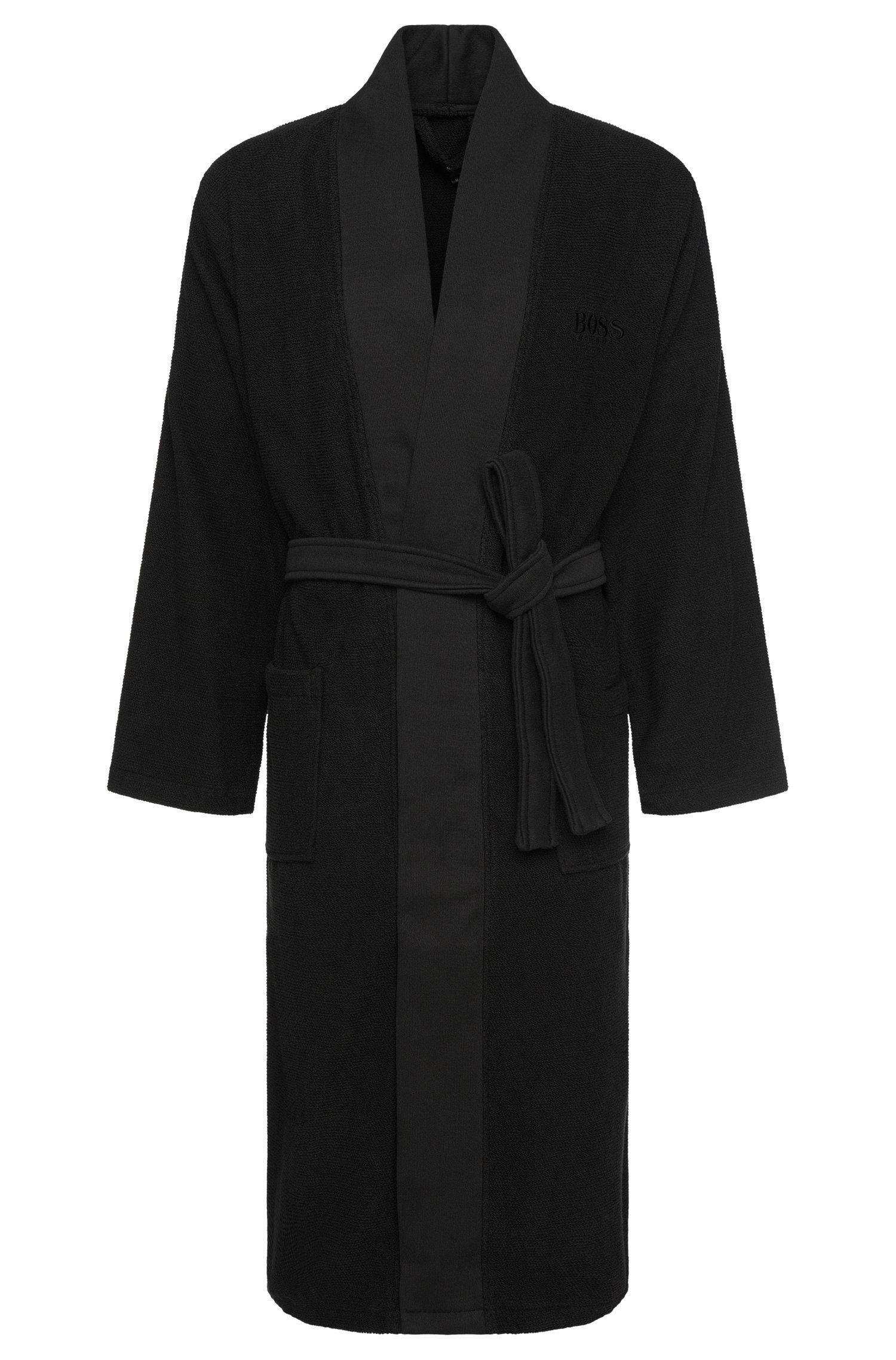 Badjas van gekamde Egeïsche katoen in kimonostijl