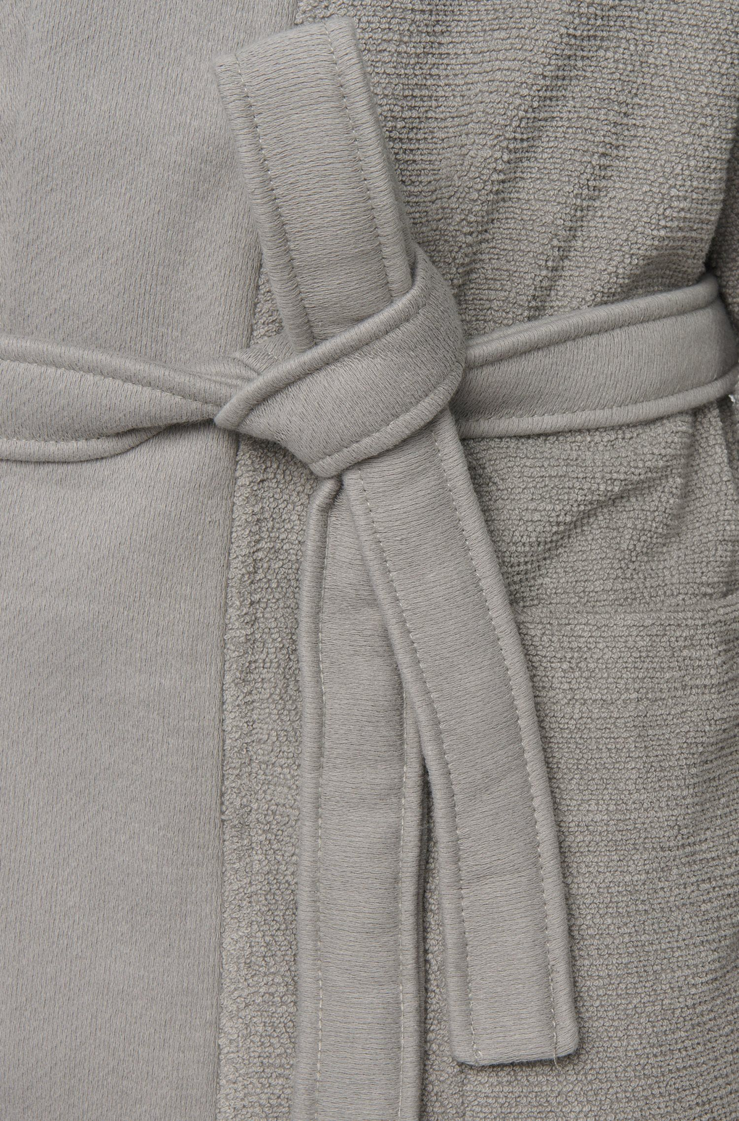 Peignoir style kimono en coton peigné de la mer Égée, Argent