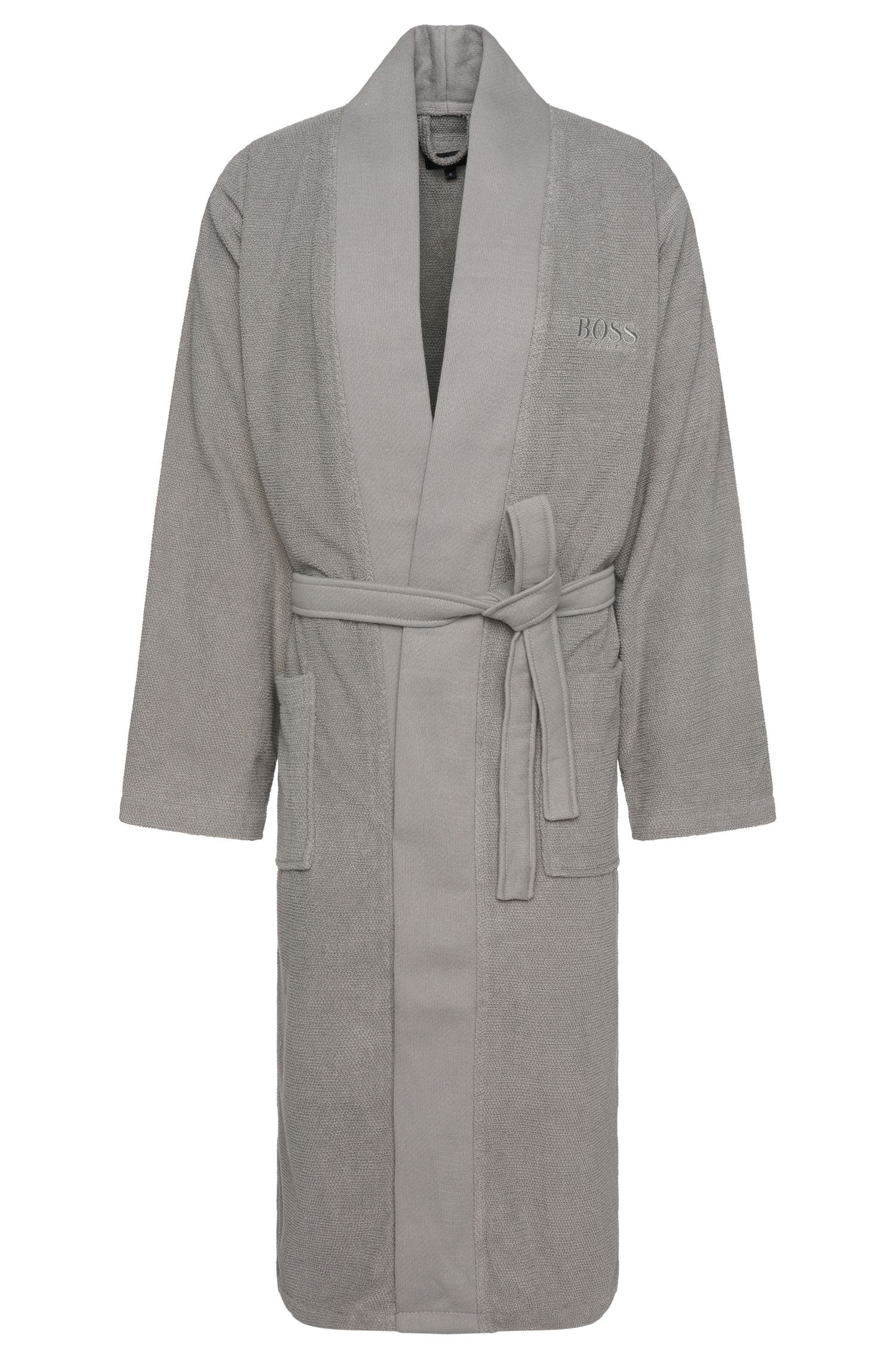 Bathrobe in cotton with wrap belt: 'Kim-Loft-275M'