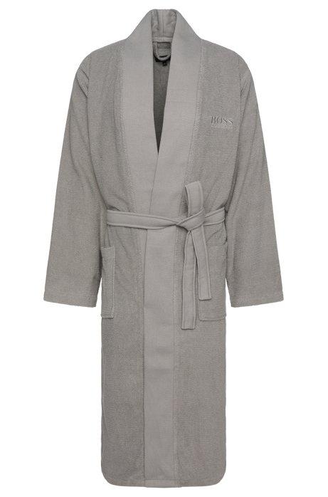 boss bademantel im kimono stil aus gek mmter g ischer baumwolle. Black Bedroom Furniture Sets. Home Design Ideas