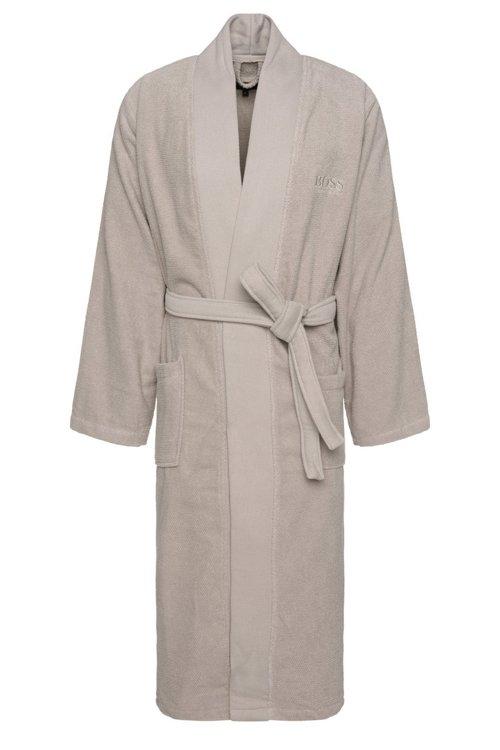 Hugo Boss - Bata de baño estilo kimono en algodón peinado del Egeo - 1