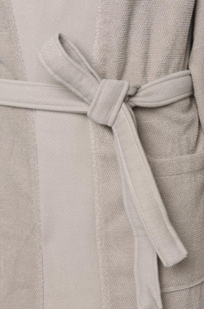 Bademantel im Kimono-Stil aus gekämmter ägäischer Baumwolle